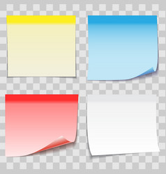 colored paper sticky note with adhesive tape vector image
