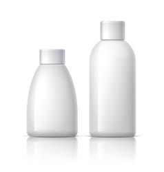 Realistic White plastic Cosmetics bottle vector image vector image