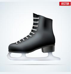 Black classic figure ice skates vector image