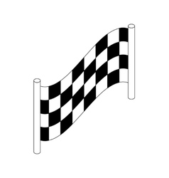 Checkered flag icon isometric 3d style vector image