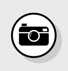 digital photo camera sign flat black icon vector image vector image