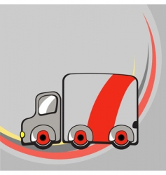 funny truck vector image