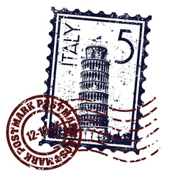 Italy stamp icon vector