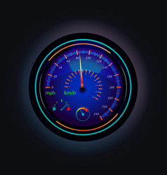 speedometer that showing speed of car and fuel vector image vector image