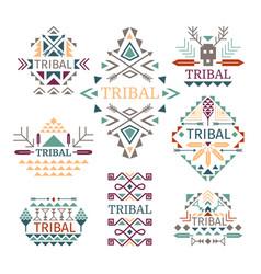 tribal logo set vector image