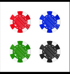 chips casino cartoon style isolated set vector image vector image