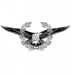 eagle and skull vector image vector image