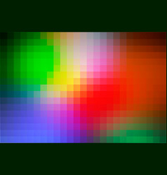 Green blue orange red mosaic square tiles vector