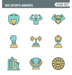 Icons line set premium quality of big sports vector image