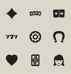 set of 9 editable game icons includes symbols vector image vector image
