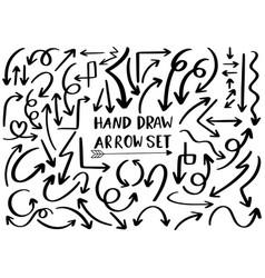 0023 hand drawn arrows vector