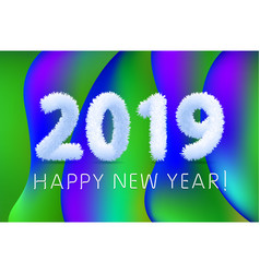 2019 a happy new year greetings abstract vector