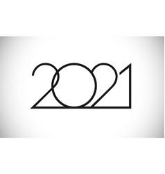 2021 thin creative logo vector
