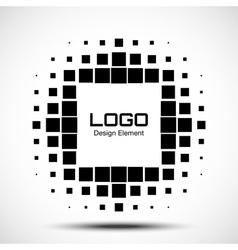 Abstract Halftone Logo Design Element vector