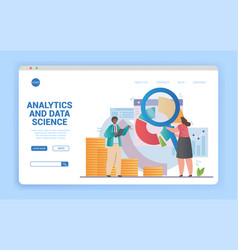analytics and data science concept vector image
