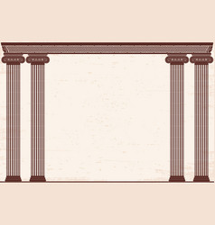 ancient greek background vector image vector image