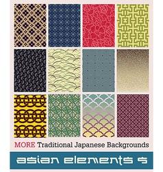 Asian elements vector