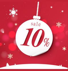 banner for christmas sale white christmas balls vector image