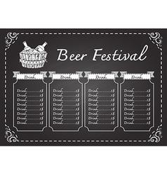 Beer festival beer menu vector