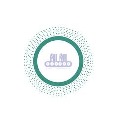 belt box conveyor factory line glyph icon isolated vector image