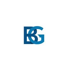 Bg logo template vector