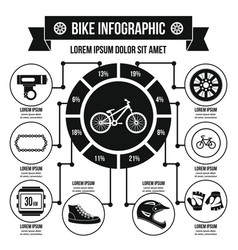 bike infographic concept simple style vector image