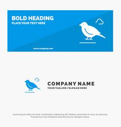 Bird british small sparrow solid icon website vector