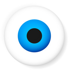 blue eyeball isolated on white eye icon vector image