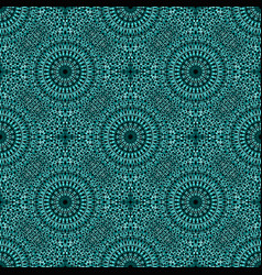 Bohemian abstract turquoise seamless floral vector