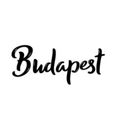budapest lettering handwritten vector image