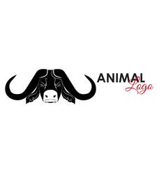 buffalo head icon logo symbol vector image