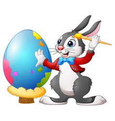 cartoon broken egg cracked eggs easter egg chi vector image