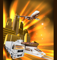 City logistics delivery graphic vector
