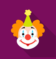 Clown icon in flat style isolated on white vector
