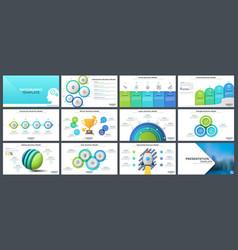 collection presentation templates vector image