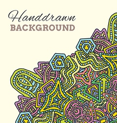 colored hand drawn background vector image