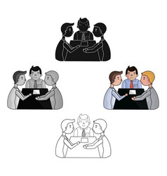 Conference icon in cartoonblack style isolated on vector