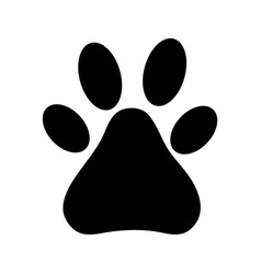 Contour dog animal footprints decoration design vector
