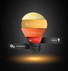 Creative light bulb idea with number banners vector image