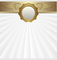 decorative background with golden ornaments and vector image