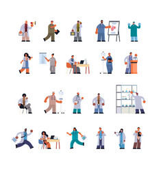 Doctors in uniform different clinic hospital vector