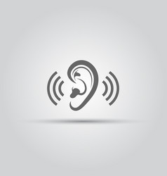 ear hearing aid isolated medical icon vector image