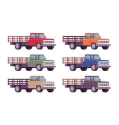 empty truck in bright colors vector image