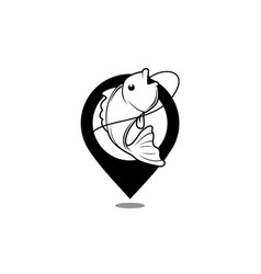 fishing area map icon vector image