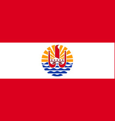 flag french polynesia flat style vector image
