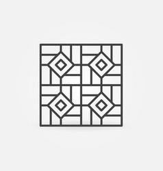 Floor ceramic tiles linear concept icon vector