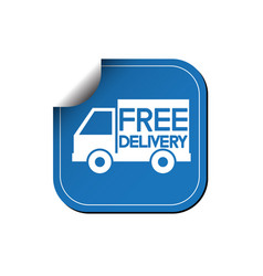 free delivery label or sticker vector image