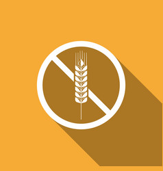 gluten free grain no wheat sign food intolerance vector image