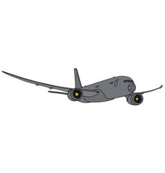 Gray big military jet aircraft vector