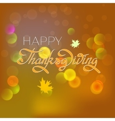 Happy thanksgiving day greeting card lettering vector